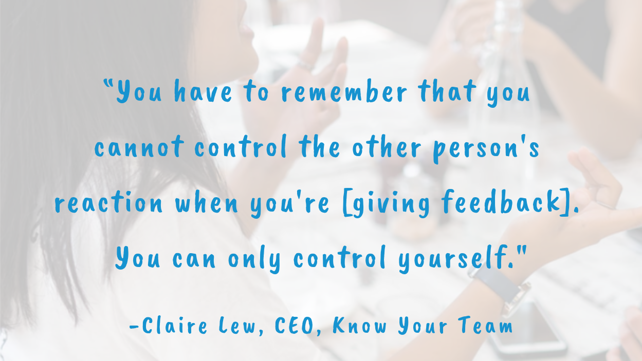 receive tough and candid feedback well lessons from claire lew esign by edoc blog